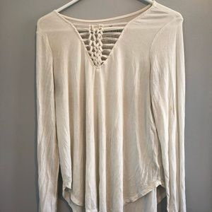 American eagle outfitters white long sleeve tee
